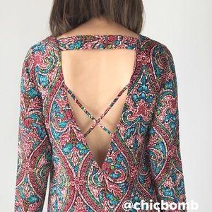 Birkin sexy open back dress